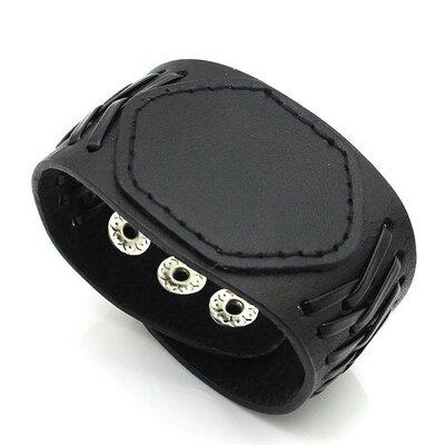 Браслет манжет «Европейский стиль» 47 со шнуровкой для байкеров и панк-рокеров