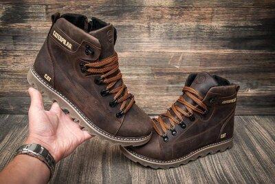 Стильные зимние ботинки мужские зимние кожаные ботинки