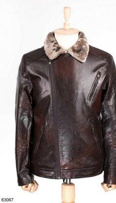 Мужская куртка из экокожи Зима