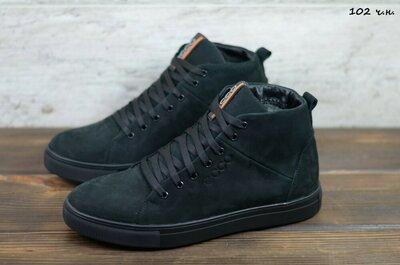Зимние ботинки/ Нубук, промасленные не промокают