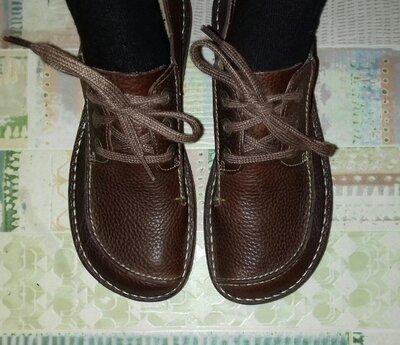 Продано: Полу ботинки кожаные полностью деми унисекс Clarks 27 см