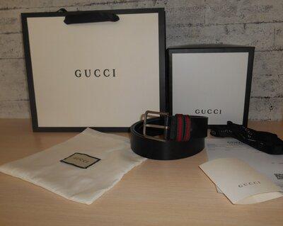 Ремень пояс мужской Gucci кожа, Италия, Оригинал