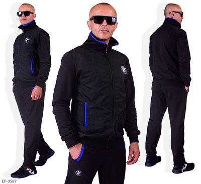 Мужской спортивный костюм двухнить плащовка в батальных размерах
