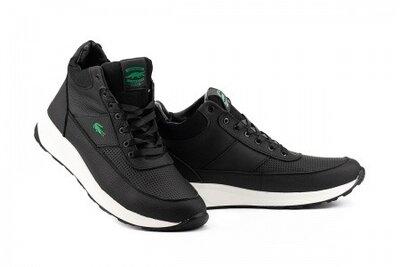 Зимние ботинки мужские Lacoste, черные, натур.кожа, мех