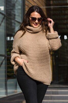 Теплый вязаный свитер оверсайз «Фристайл»