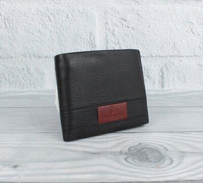 Кожаное портмоне, кошелек мужской roccobarocco 5175 на кнопках