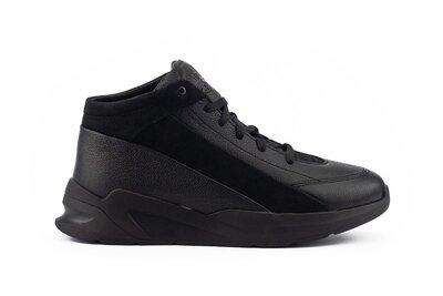 Зимние теплые кожаные мужские ботинки, черные, р. 40-45, 031-Trike 045