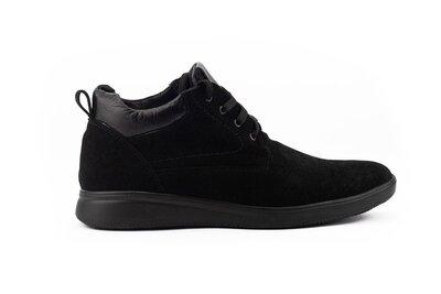 Зимние теплые замшевые мужские ботинки, черные, р. 40-45, 031-Vankristi 650