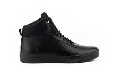 Зимние теплые кожаные мужские ботинки, черные, р. 40-45, 031-New Man P1-1