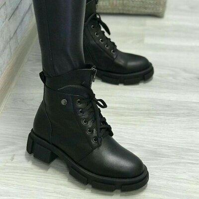 Зимние ботиночки из натуральной кожи. Жіночі зимові чобітки з натуральної шкіри.