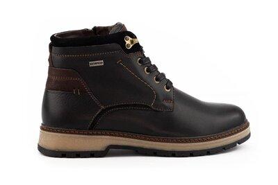 Зимние теплые кожаные мужские ботинки, черные, р. 40-45, 031-Falcon 115