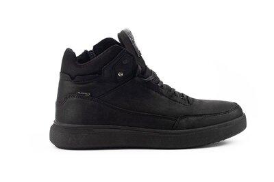 Зимние теплые кожаные мужские ботинки, черные, р. 40-45, 031-Belvas 20141