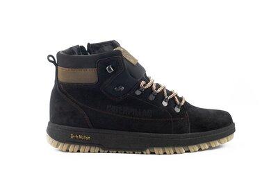 Зимние теплые мужские ботинки, черные, р. 40-45, 031-CrosSAV 322