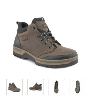 Ботинки зимние натуральная кожа кожаные коричневые берцы коричневый