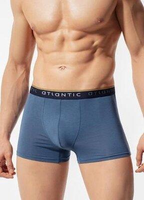 Мужские трусы-шорты из пима-хлопка голубого цвета atlantic mh 1127
