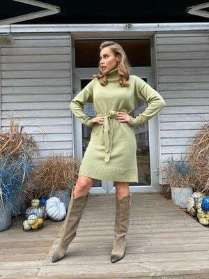 Продано: Вязаное платье Гольф,4 цвета