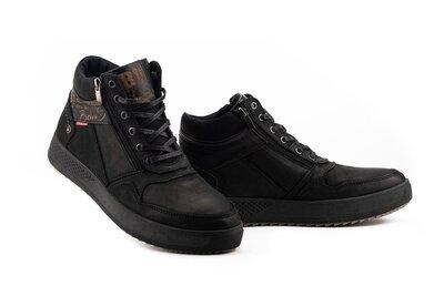 Мужские ботинки кожаные зимние черные Belvas 19157