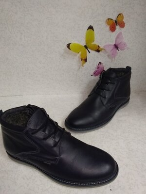 Кожаные зимние мужские ботинки Flamanti Фламанти 40р.