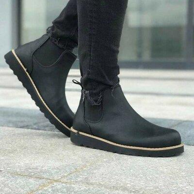 Продано: Стильные мужские демисезонные осенние еврозима ботинки Челси сапоги