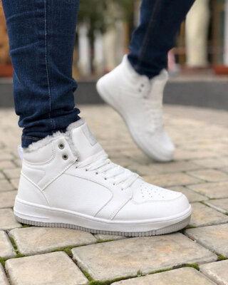 Мужские Ботинки Форс Высокие Белые Зима
