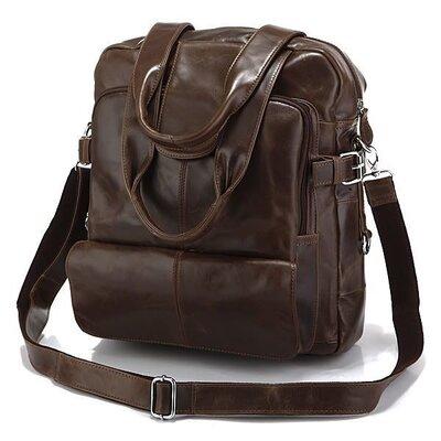 Сумка-Рюкзак кожаная коричневая рюкзак-трансформер кожаный коричневый унисекс