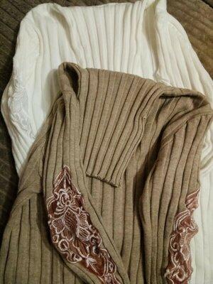 Водолазки в рубчик кофта свитер с кружевом