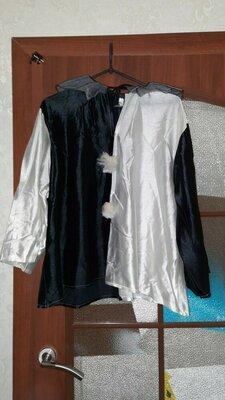 Мужской костюм мим, пьеро, арлекин, домино