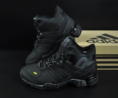 зимние ботинки Adidas Terrex 465 черные нубук 41-46р