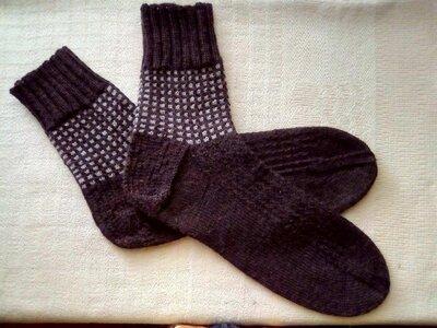 Мужские вязаные носки, разм.45