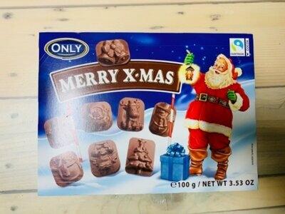 Продано: Молочный шоколад Merry X-mas figures Only , 100 гр Австрия