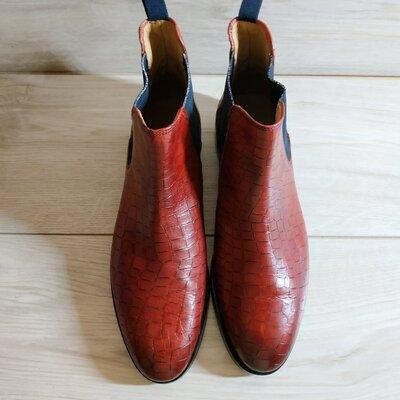 Кожаные фирменные ботинки от Melvin & Hamilton 39.5 -40 р- Новые - Оригинал