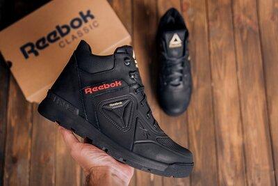 Продано: Мужские зимние кожаные ботинки Reebok Black leather