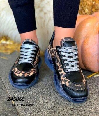 Супер Стильные Кроссовки В Леопардовым Принтом Новая Мода-Можно На Сырую Погоду