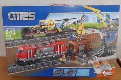 Конструктор K8014 Грузовой поезд с мотором на радиоуправлении аналог Lego City 60098