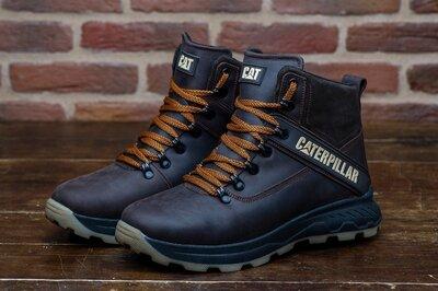 Зимние мужские ботинки из натуральной кожи Caterpillar