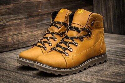 Продано: Зимние мужские ботинки из натуральной кожи Caterpillar