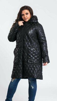 Красивое стеганное пальто куртка осень