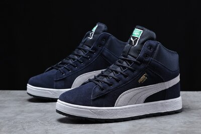 Зимние мужские кроссовки 31751 Puma Suede, темно-синие