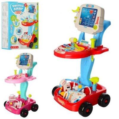 Продано: Доктор 660-45-46 набор доктора детский, тележка, инструменты, звук, свет, 2 цвета