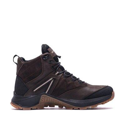 Мужские зимние кожаные ботинки merrell brown, зимние мужские ботинки
