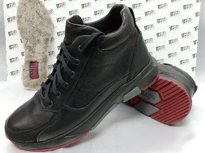 Скидка Зимние кожаные ботинки на цигейке на платформе Detta 42,43р