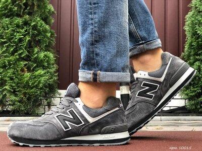 Мужские зимние кроссовки New Balance 574, замшевые,цвета разные