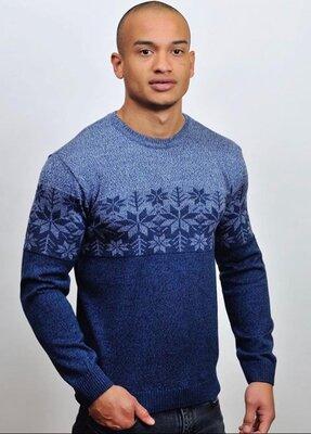 Мужской свитер Родион в цвете джинс-т.синий 50-56