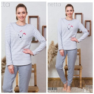 Теплые пижамы на байке Vienetta secret
