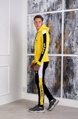 Тёплый спортивный костюм Adidas желтый мужской