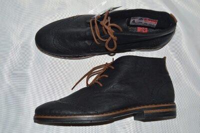 Броги черевики rieker зима натуральна овчина розміри 39 40 41 42, ботинки