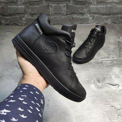 Стильные хайповве брендовые фирменные зимние теплые натуральные ботинки кроссовки кроссы кеды