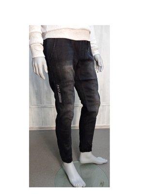 Продано: Джинсы джогеры мужские для подростка теплые на флисе на резинке черного цвета