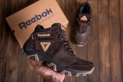 Продано: Мужские зимние кожаные ботинки Reebok Crossfit Brown