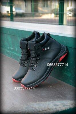 Мужские зимние ботинки кроссовки прошиты , чоботи чоловічі кросівки шкіра зимові